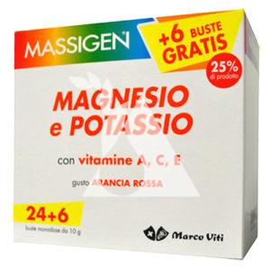 Massigen magnesio potassio 24+6 buste cod 936900366